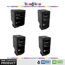 Kartuce kompatibel e rigjeneruar, me garanci 100% e verdhe LEX78C20Y0 per LEXMARK CS421,CS521,CS622,CX421